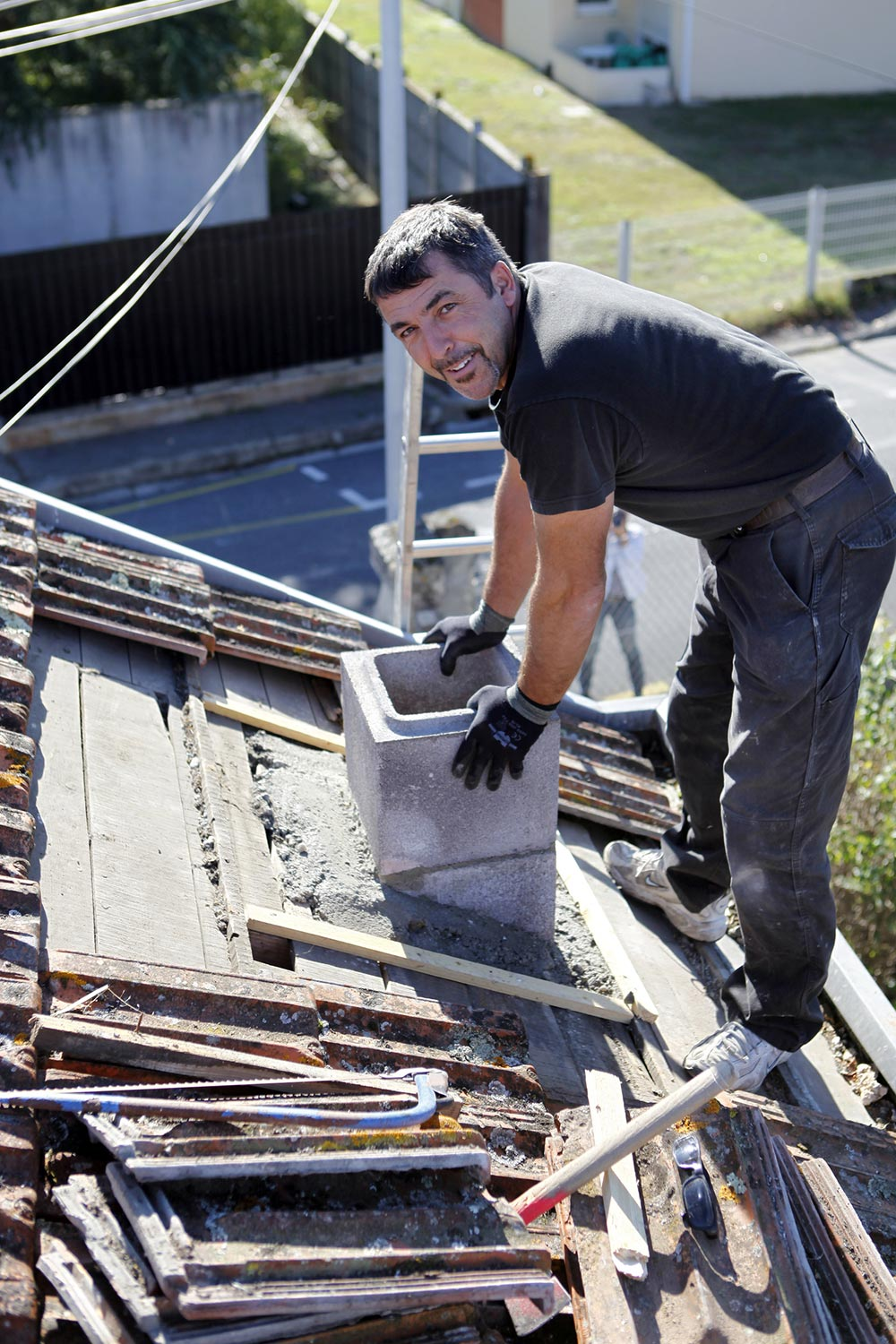 Our roofers
